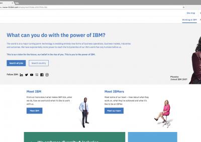 IBM Careers Landing Page