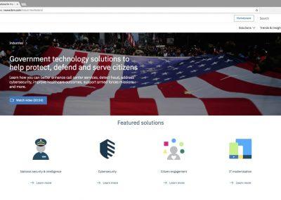 IBM US Federal Landing Page