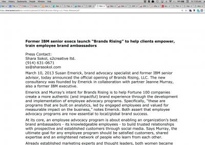 Brands Rising, LLC Press Release