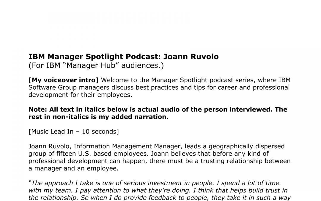 Employee Podcast Script