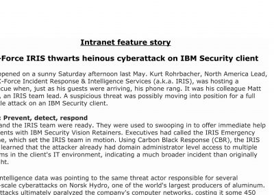 IBM Security Intranet Feature